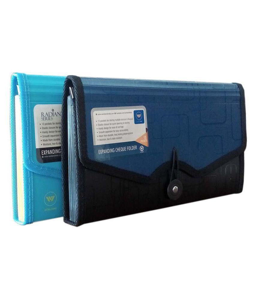 Worldone Expanding Cheque Book Folder Set of 2