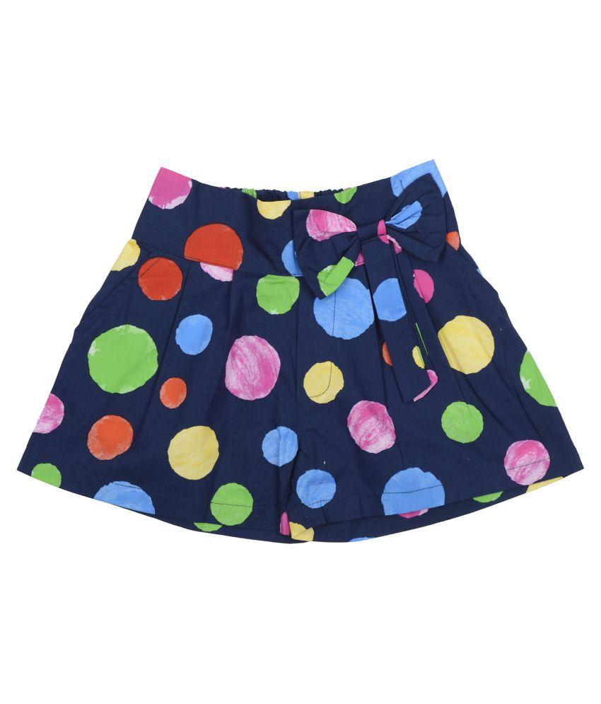 Carrel Cotton Fabric Girls Blue Short