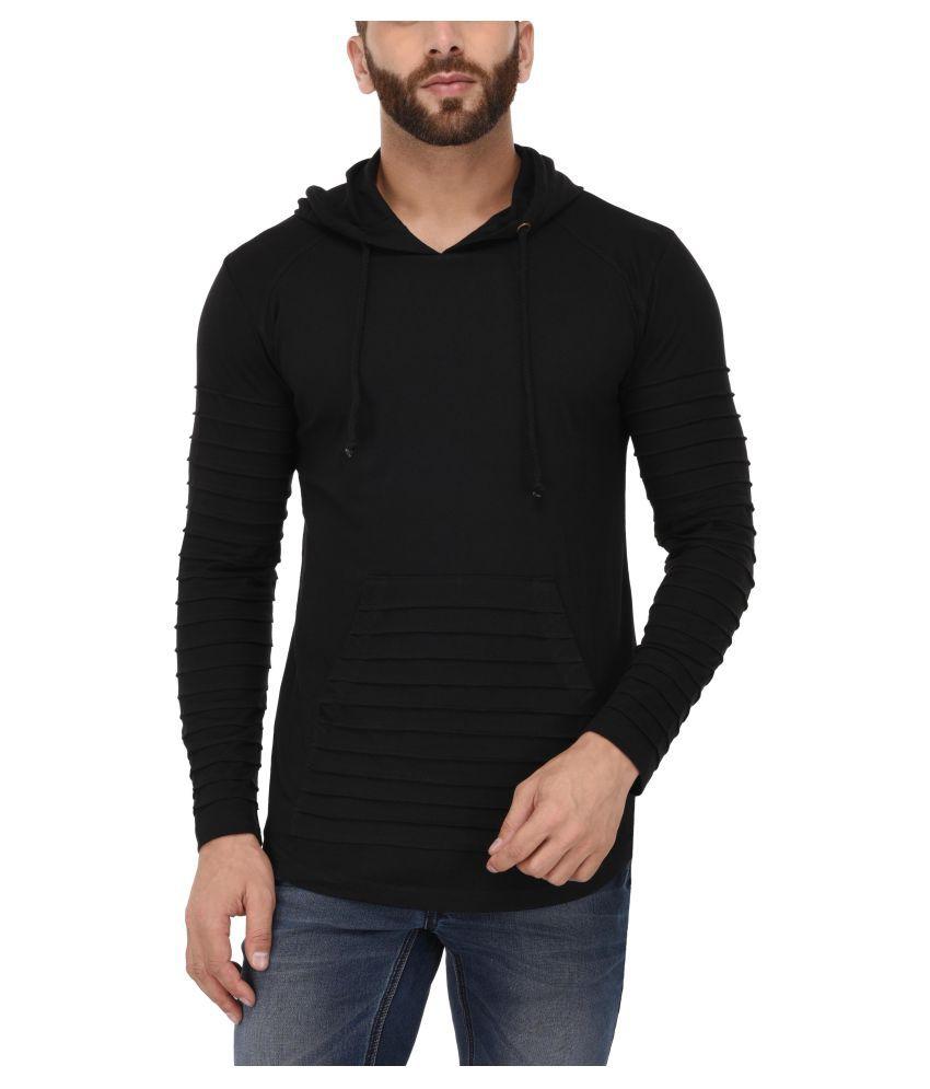 Tinted Black Hooded T-Shirt