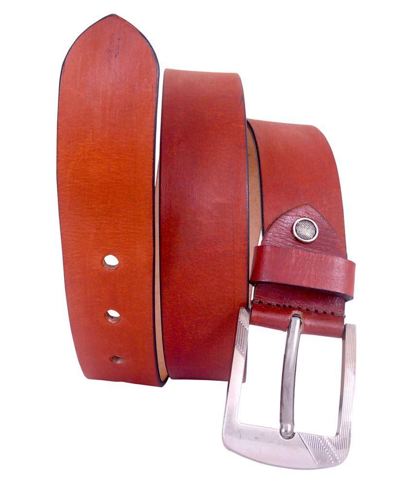 Earnam Tan Leather Formal Belts