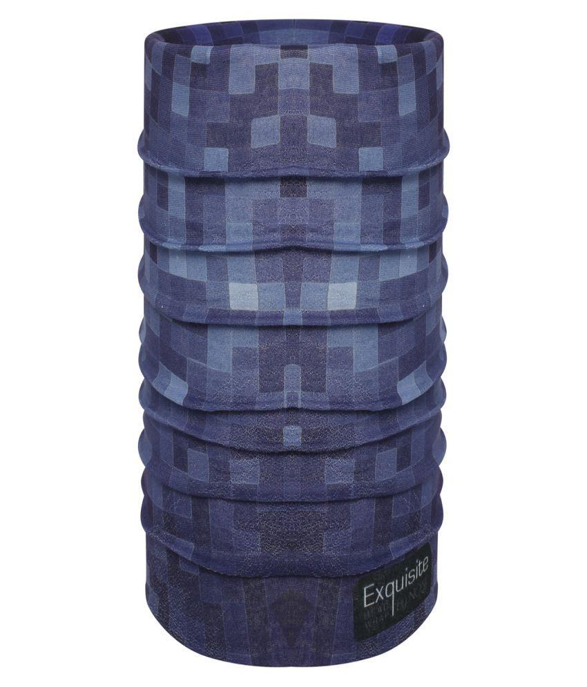 Noise Blue Polyester Headwraps
