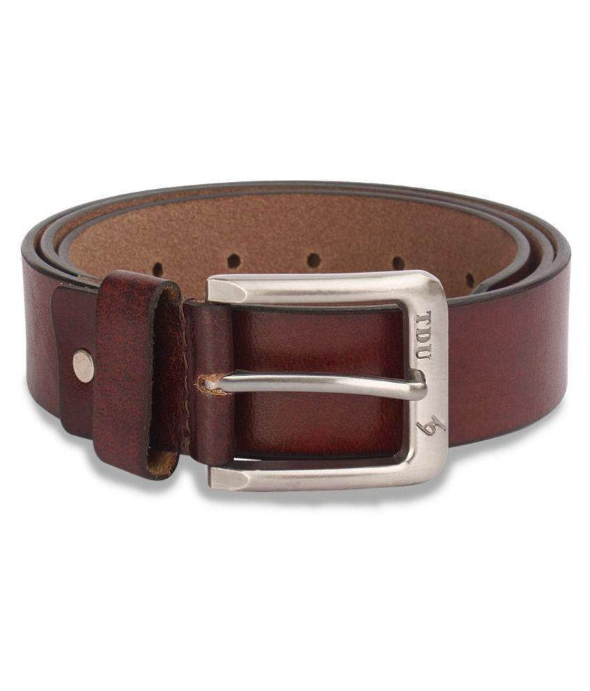 Xccess Brown Leather Casual Belts