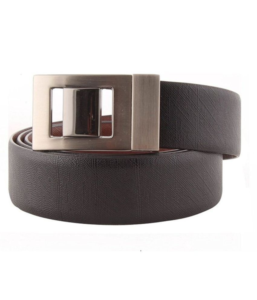 Aarmish Black Leather Casual Belts