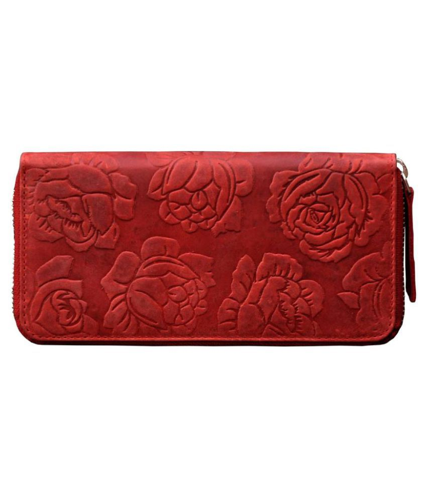 Tamanna Red Pure Leather Box Clutch