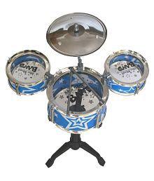 Taaza Garam Kids Musical Jazz Drum Set Toy Blue