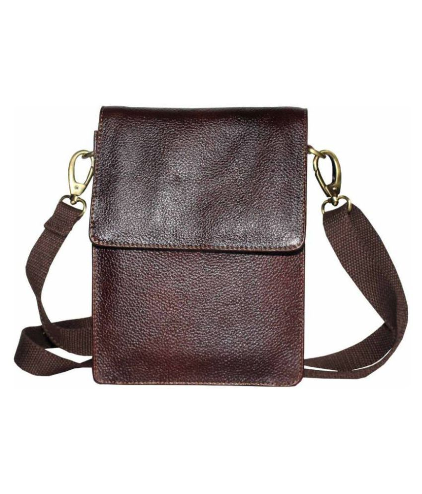 b11fdc301 Tamanna Men & Women Brown Genuine Leather Sling Bag - Buy Tamanna Men &  Women Brown Genuine Leather Sling Bag Online at Low Price - Snapdeal