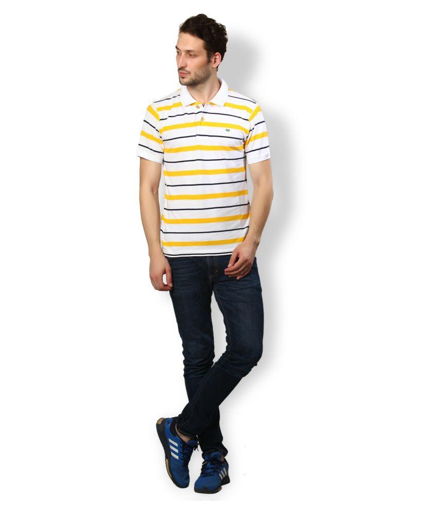 UV & W Yellow Cotton Polo T-Shirt