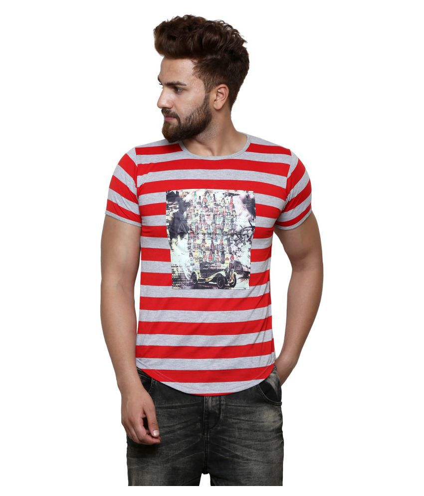 Flying Star Red Round T-Shirt