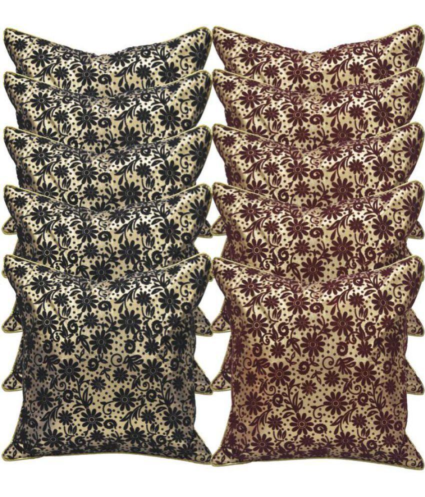 Stybuzz Set of 10 Velvet Cushion Covers 40X40 cm (16X16)