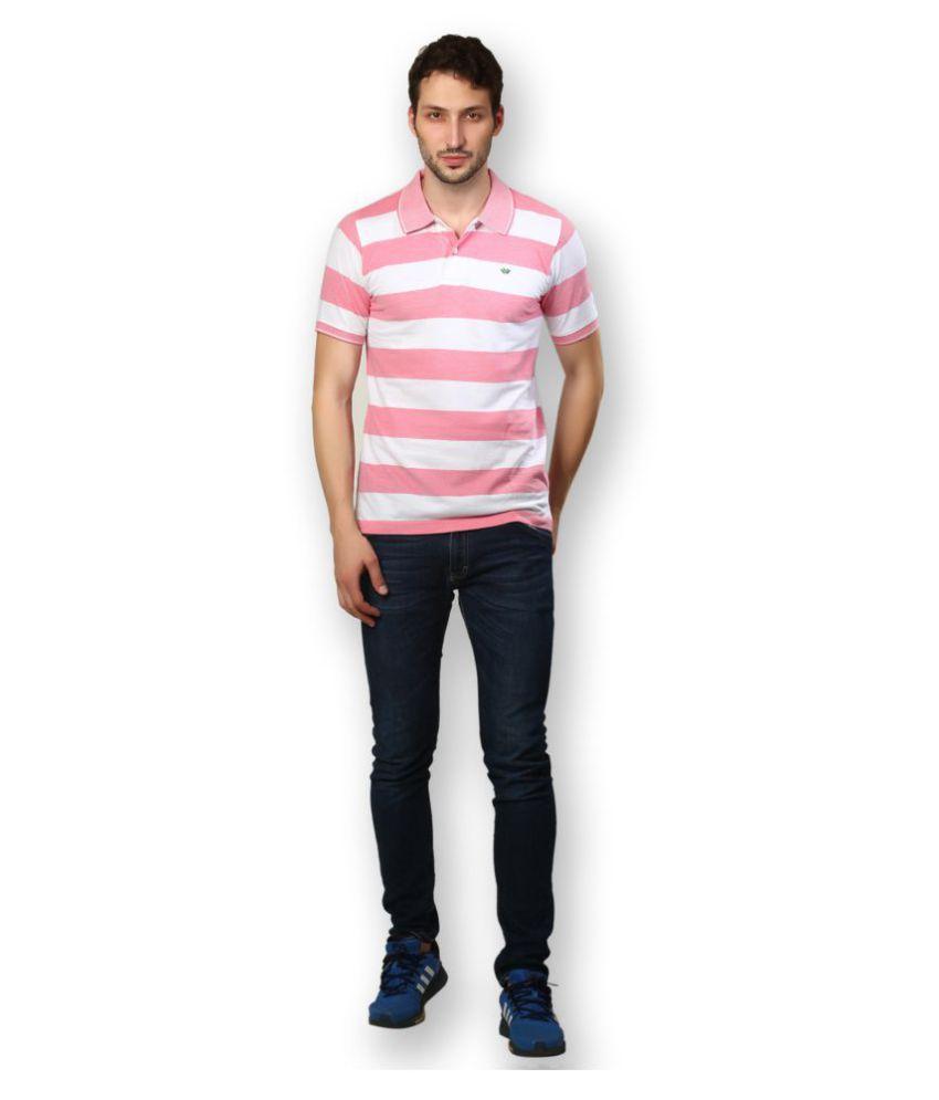 UV & W Pink Cotton Polo T-Shirt
