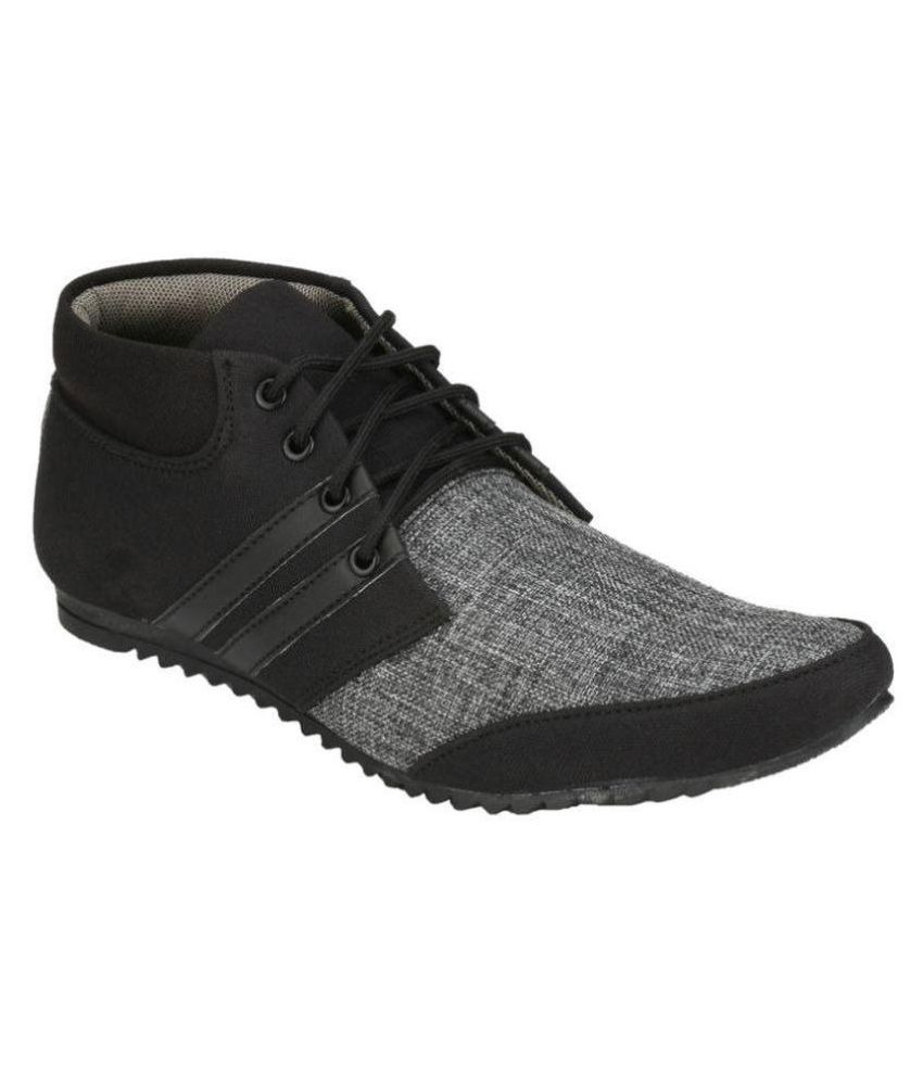 S A Creations 2117-09 Lifestyle Black Casual Shoes