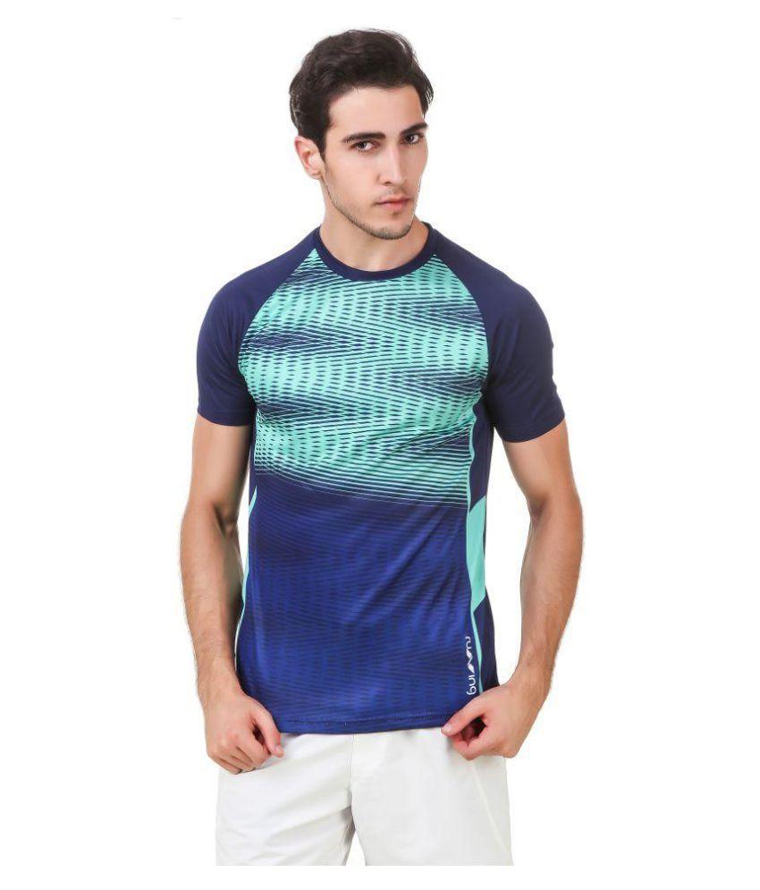 Nivia Green Polyester T-Shirt