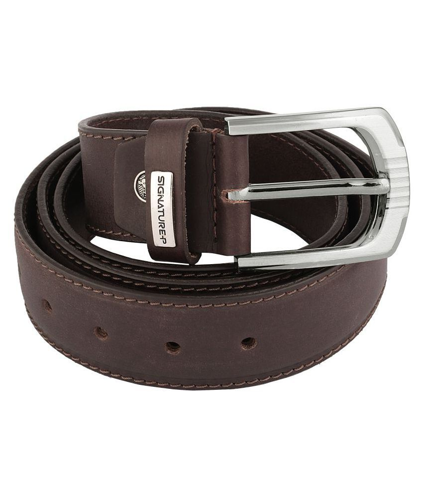 Signature Plus Brown Leather Formal Belts