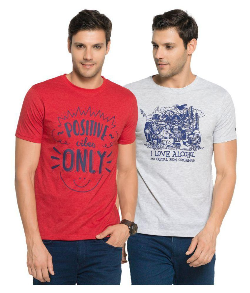 Zorchee Multi Round T-Shirt Pack of 2
