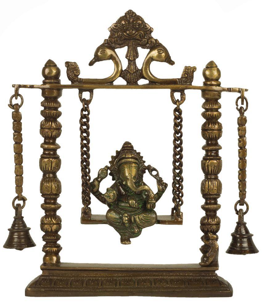 ISHVENA Ganesha Brass Idol