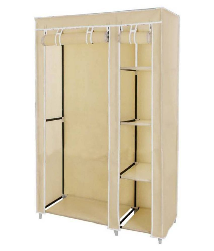 3886df50d ... 3.5 Feet Creative Cream Cabinet,Easy Installation Folding Wardrobe  Cupboard Almirah Foldable Storage Rack Collapsible ...