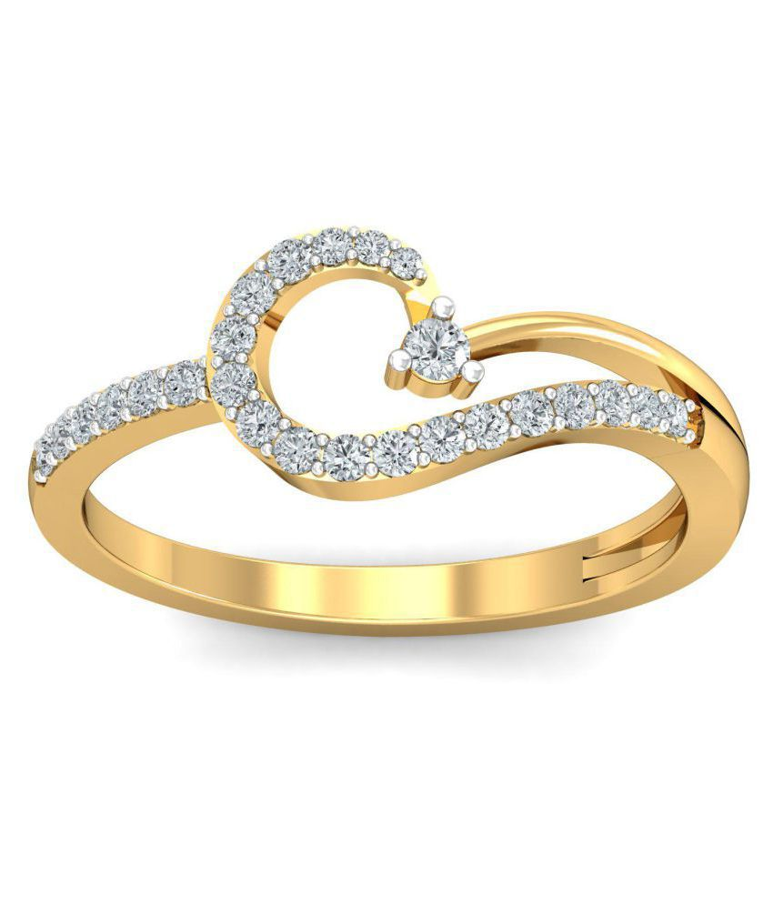 Glitterati By Asmi 18k Gold Ring