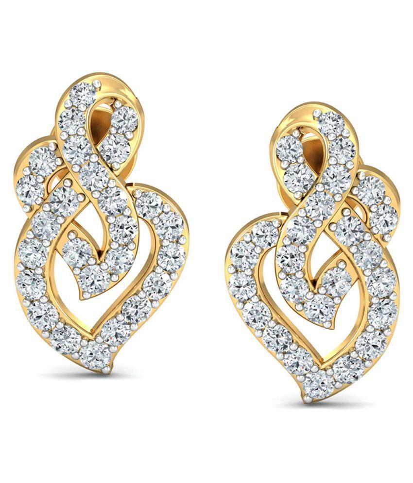 Avnni By Nakshatra 18k BIS Hallmarked Gold Diamond Studs