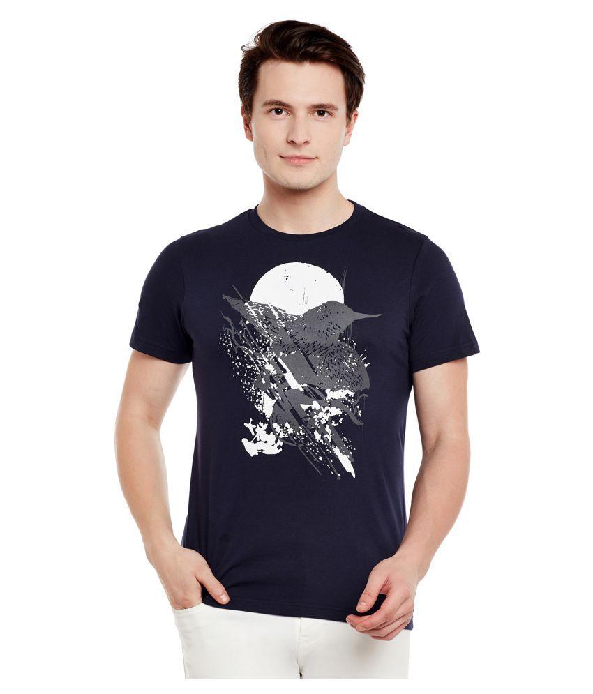 Monarch Navy Round T-Shirt