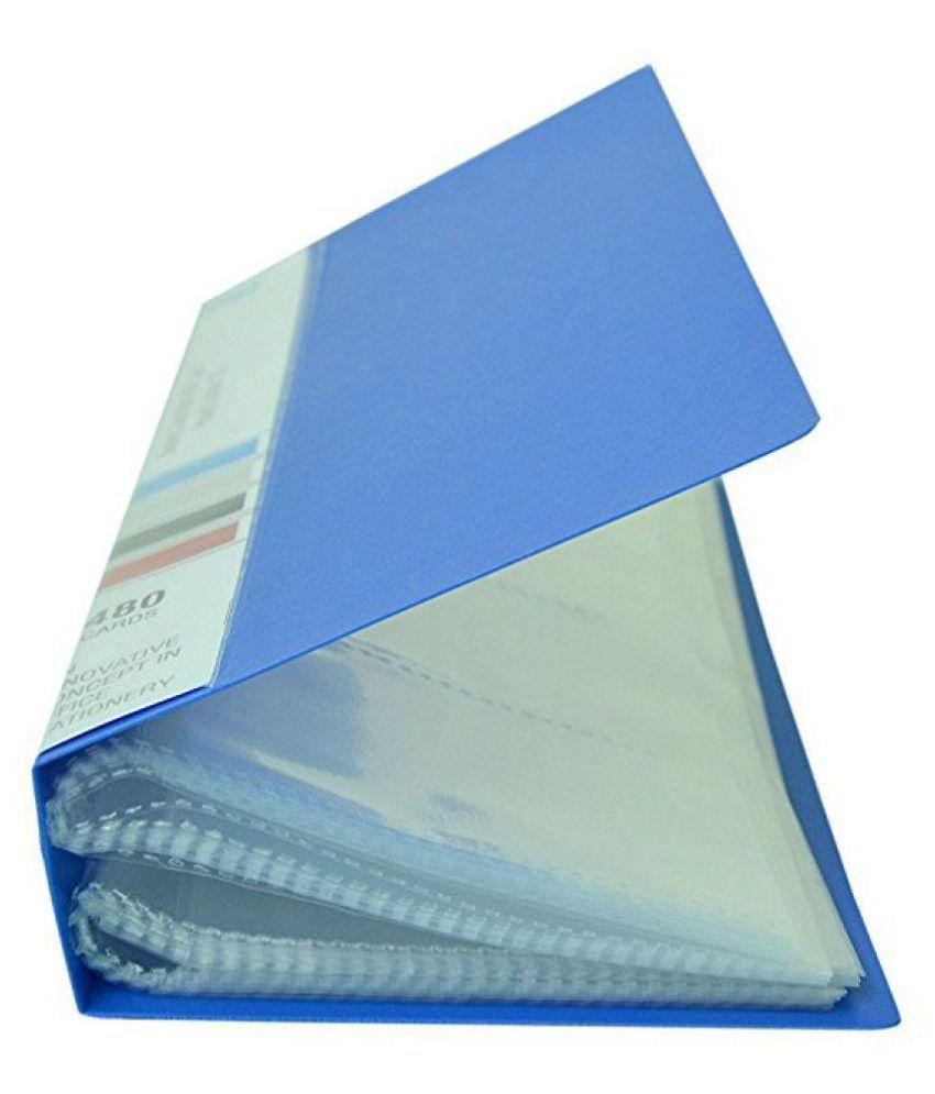 Sps Visiting Card Holder 480 Folder Blue Buy Online At Best