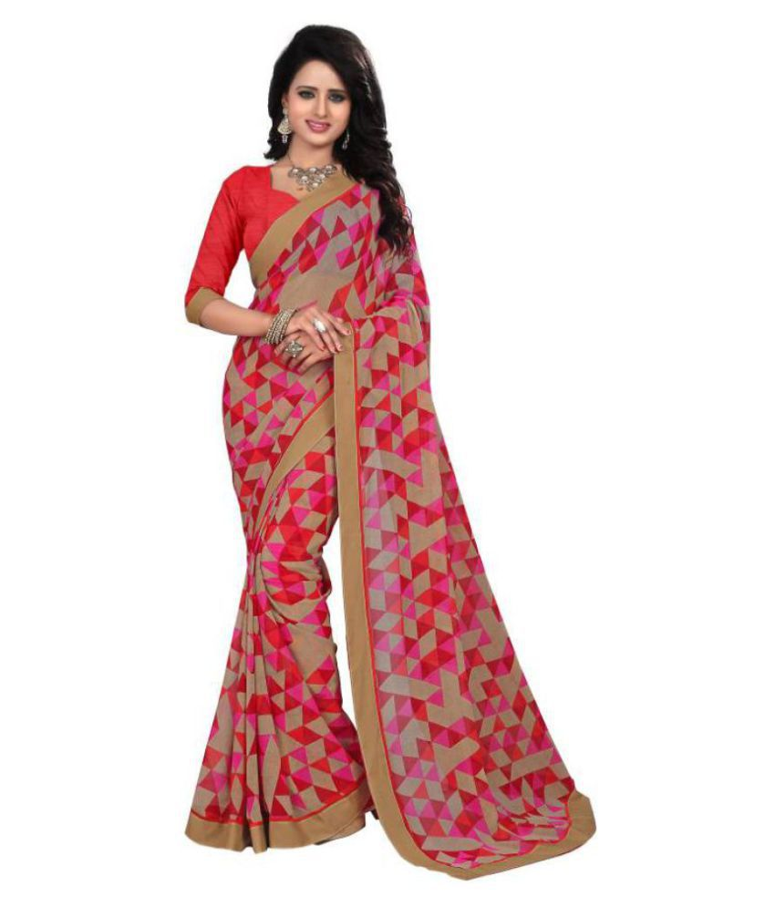 HashTag Fashion Multicoloured Georgette Saree