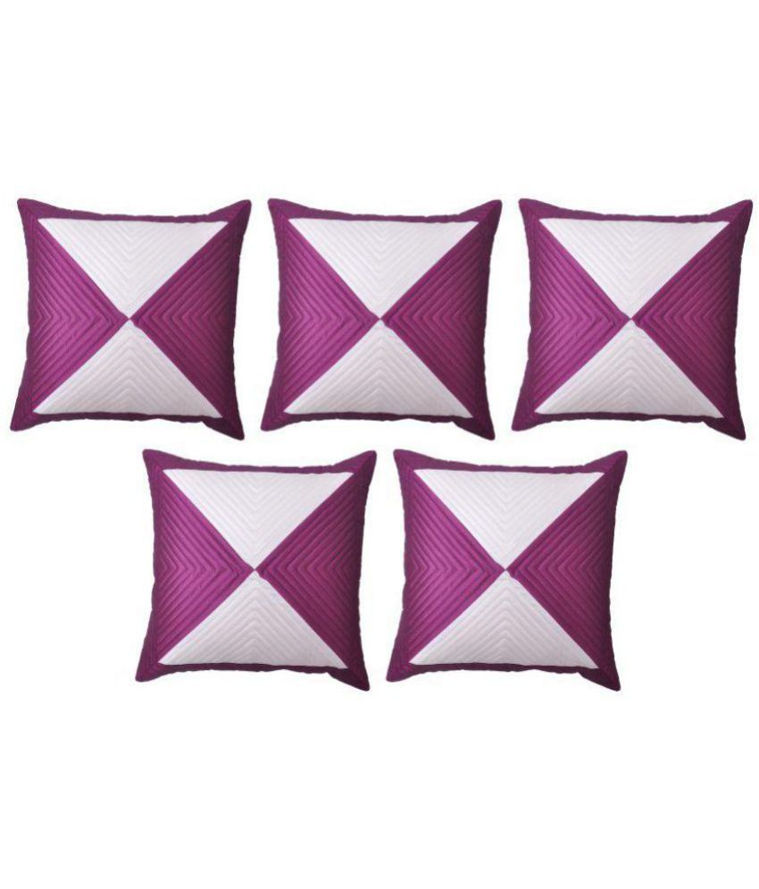 AD Creations Set of 5 Poly Dupion Cushion Covers 40X40 cm (16X16)