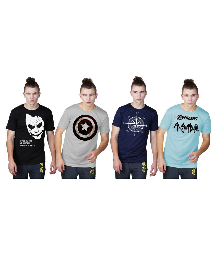Essenze Multi Polyester T-Shirt Pack of 4