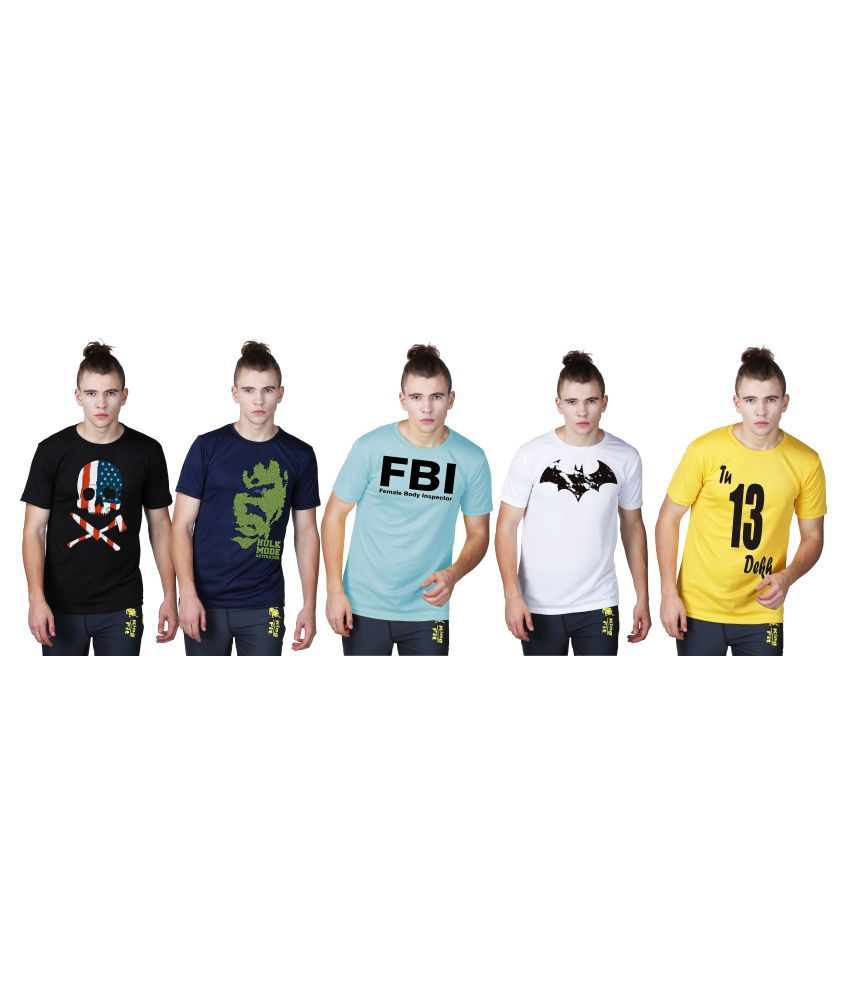 Essenze Multi Round T-Shirt Pack of 5
