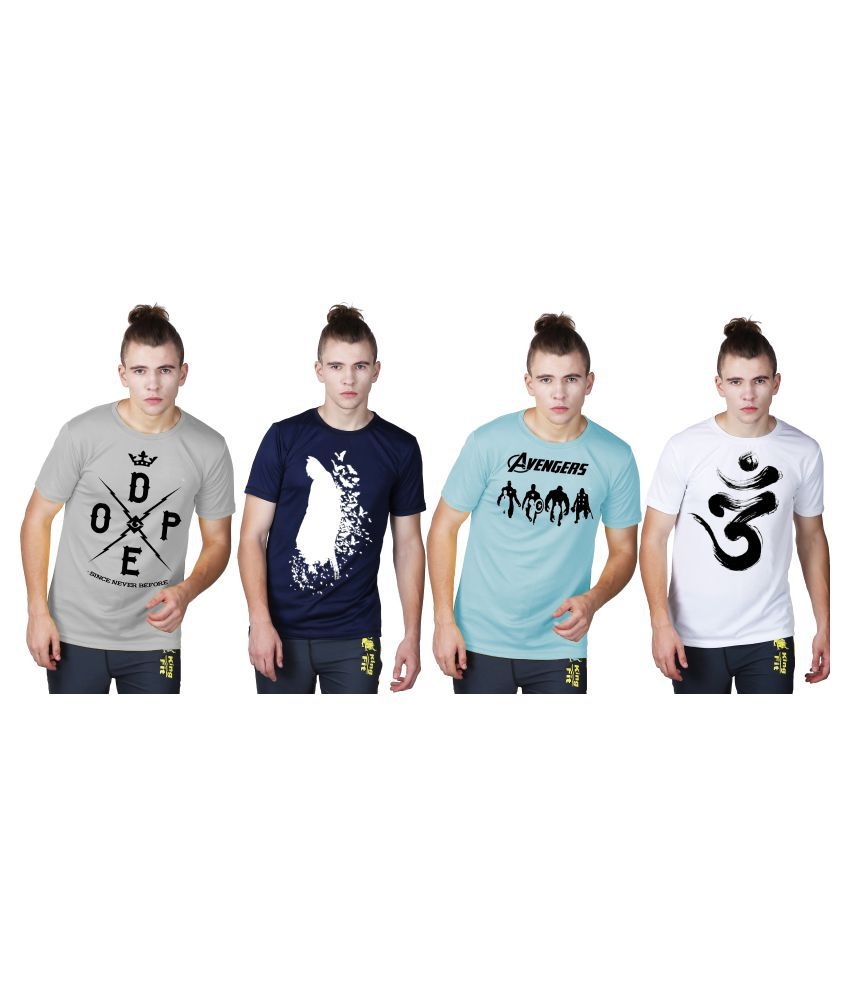 Essenze Multi Round T-Shirt Pack of 4