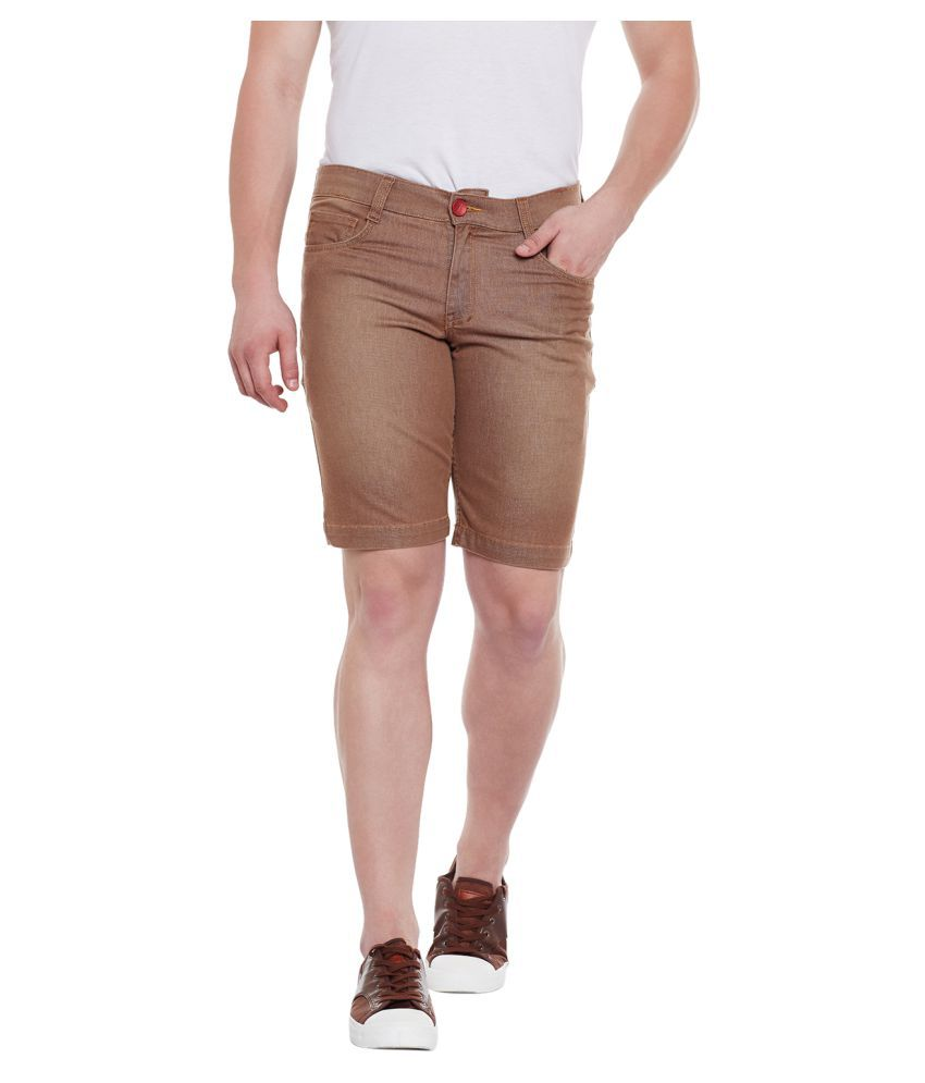 Wear Your Mind Brown Shorts