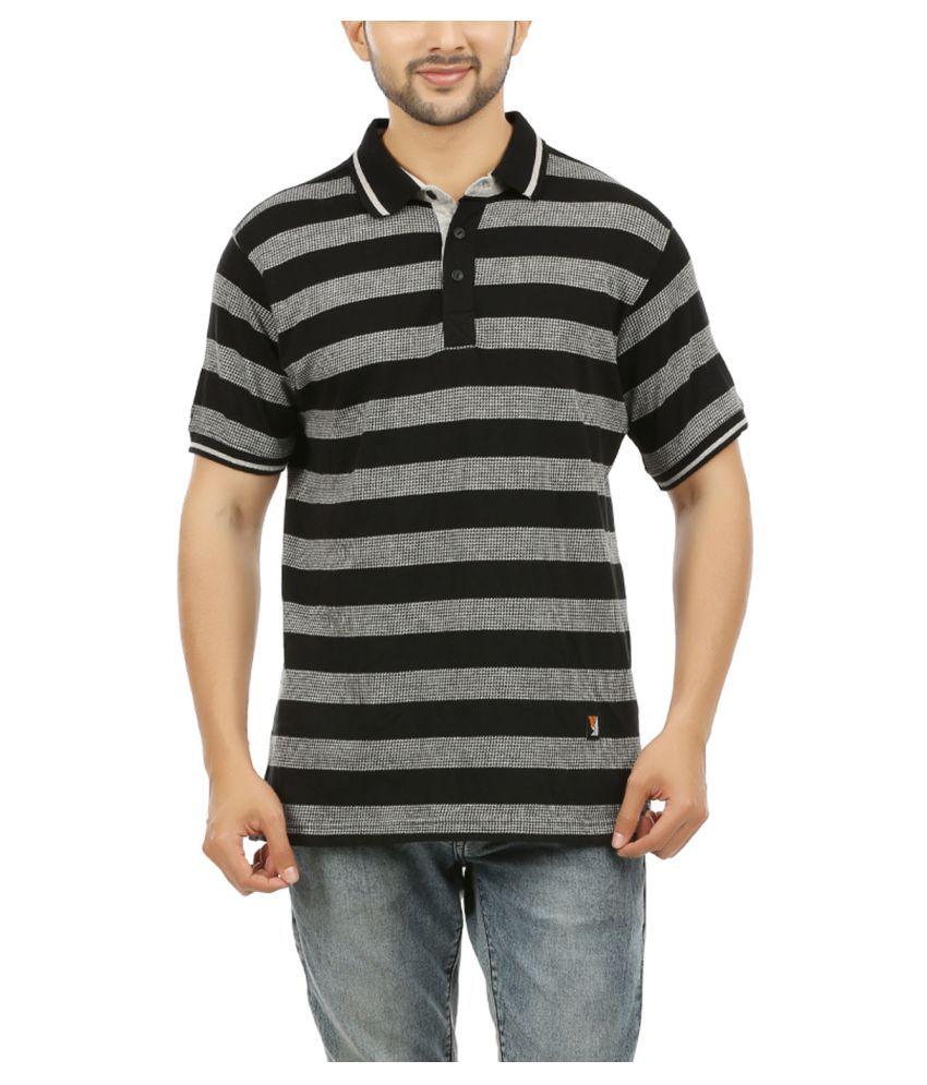 yekcoool Black High Neck T-Shirt