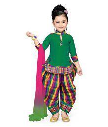 Aarika Green Polyester Kurta, Patiala And Dupatta Set