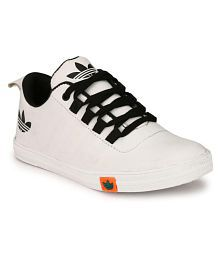 Falcon trendy casual white sneakers shoes Sneakers White Casual Shoes