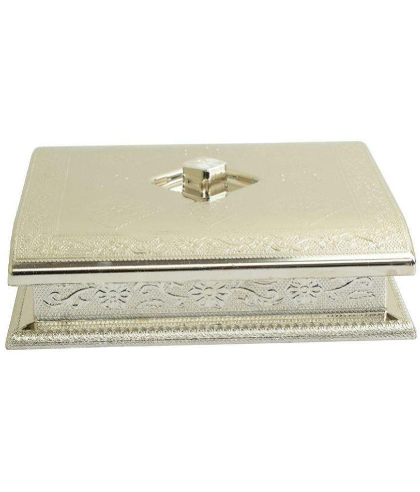 E-stores Silver Plastic Decorative Box 5 - Pack of 1