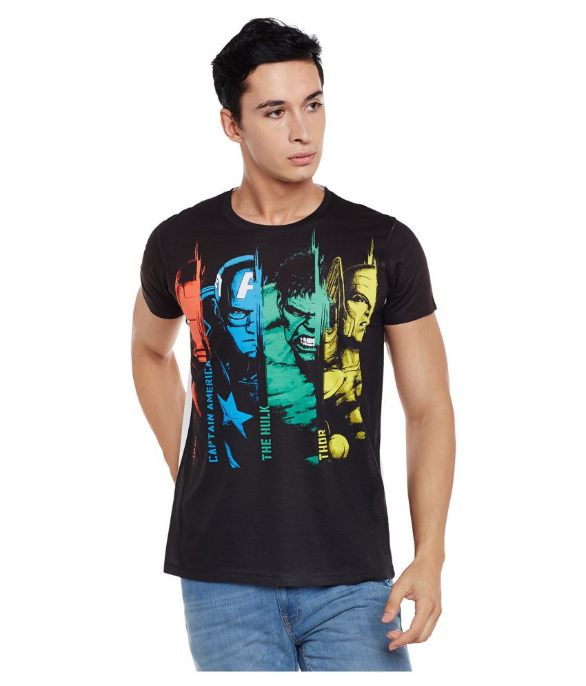 Marvel Avengers Black Round T-Shirt