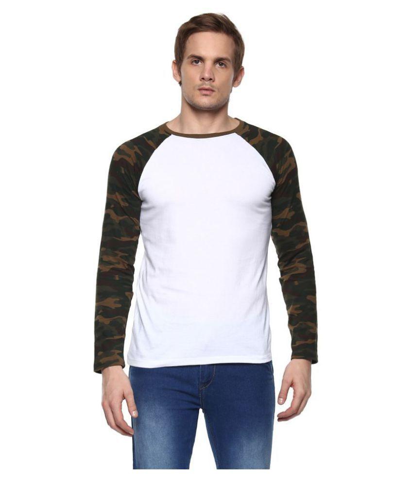 Urbano Fashion White Round T-Shirt