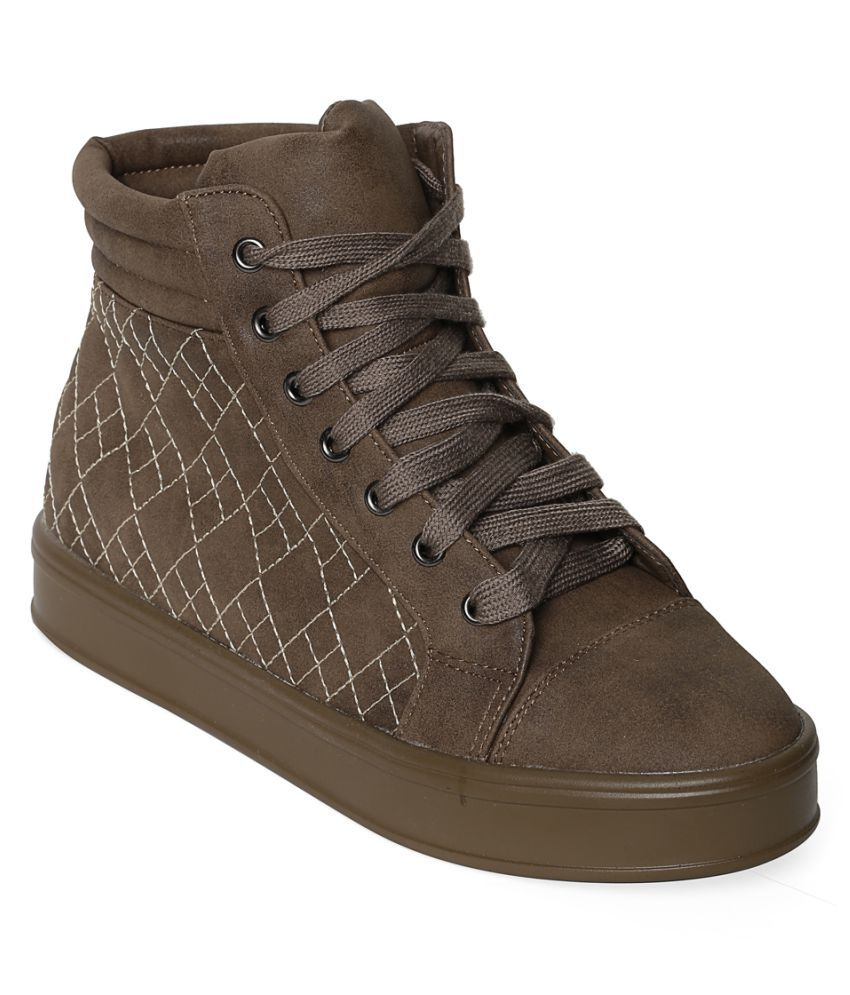Flat n Heels Khaki Casual Shoes
