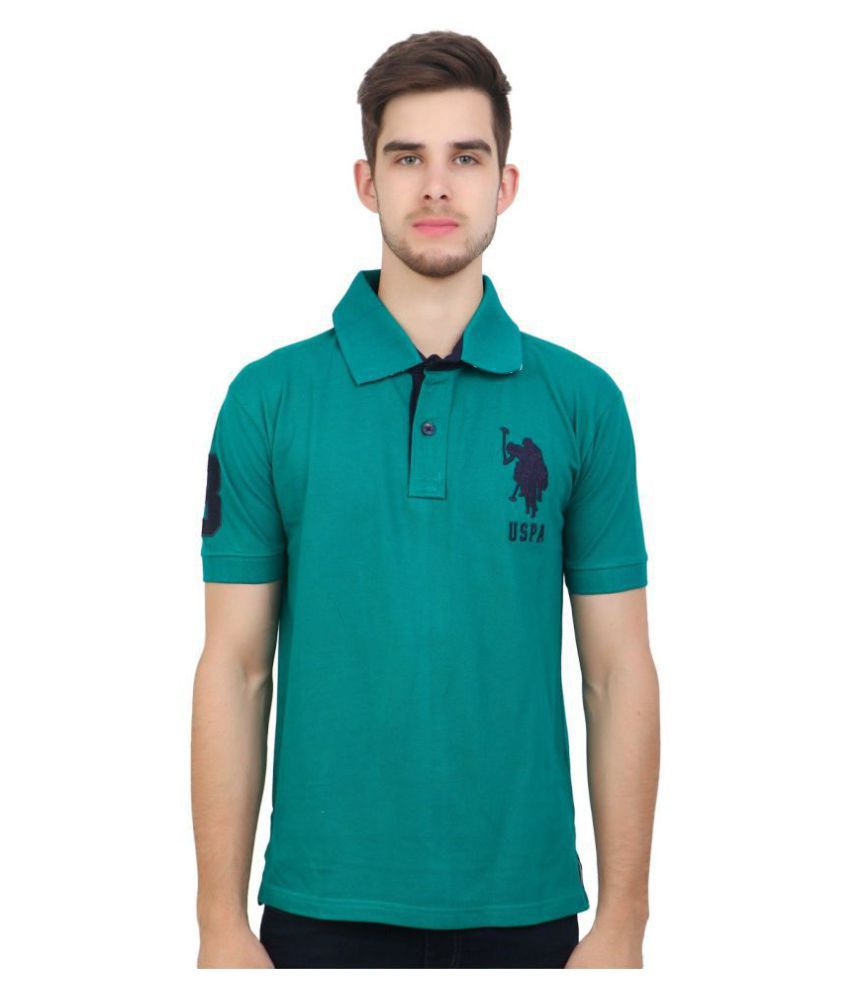 10e88a0ded U.S. Polo Assn. Green Regular Fit Polo T Shirt - Buy U.S. Polo Assn. Green  Regular Fit Polo T Shirt Online at Low Price - Snapdeal.com