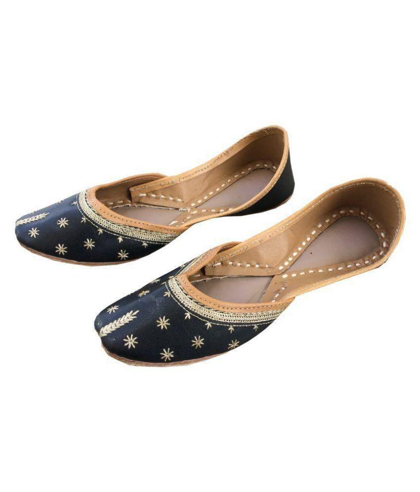 kalakari e shop Black Flat Ethnic Footwear