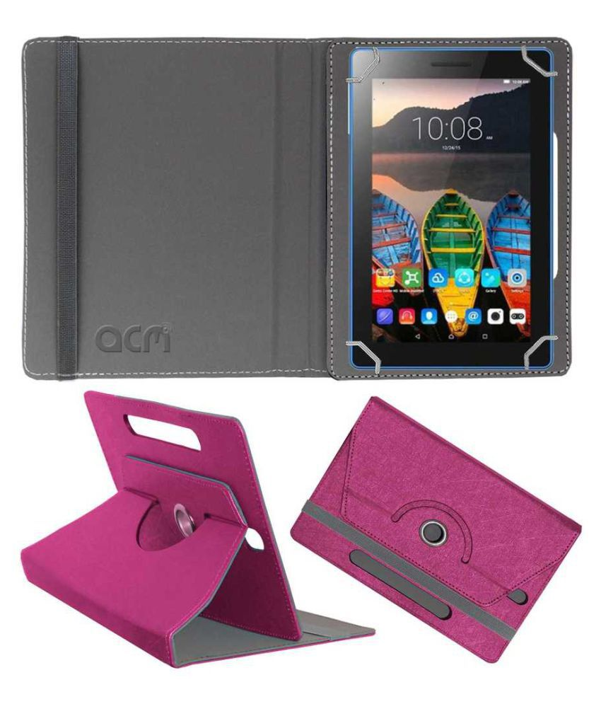 Lenovo Tb3-710l Flip Cover By ACM Pink