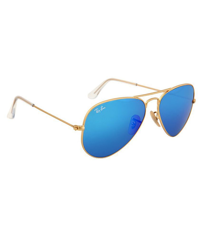 Ray Ban Sunglasses Ocean Blue Aviator Sunglasses ( RB3025 ) - Buy ...
