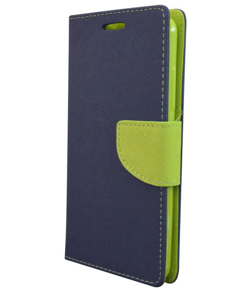 Lyf Wind 5 Flip Cover by Rdcase - Blue