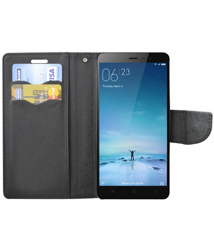 detailed look 3b3c1 850de OnePlus One Flip Cover by Rdcase - Black