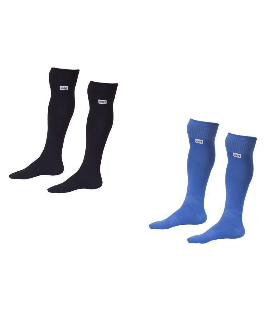 30c491b81c9 DeNovo Lycra Plain Knee Length Football   Ball   Hockey Socks (Set of 2  Pairs)  Buy Online at Best Price on Snapdeal