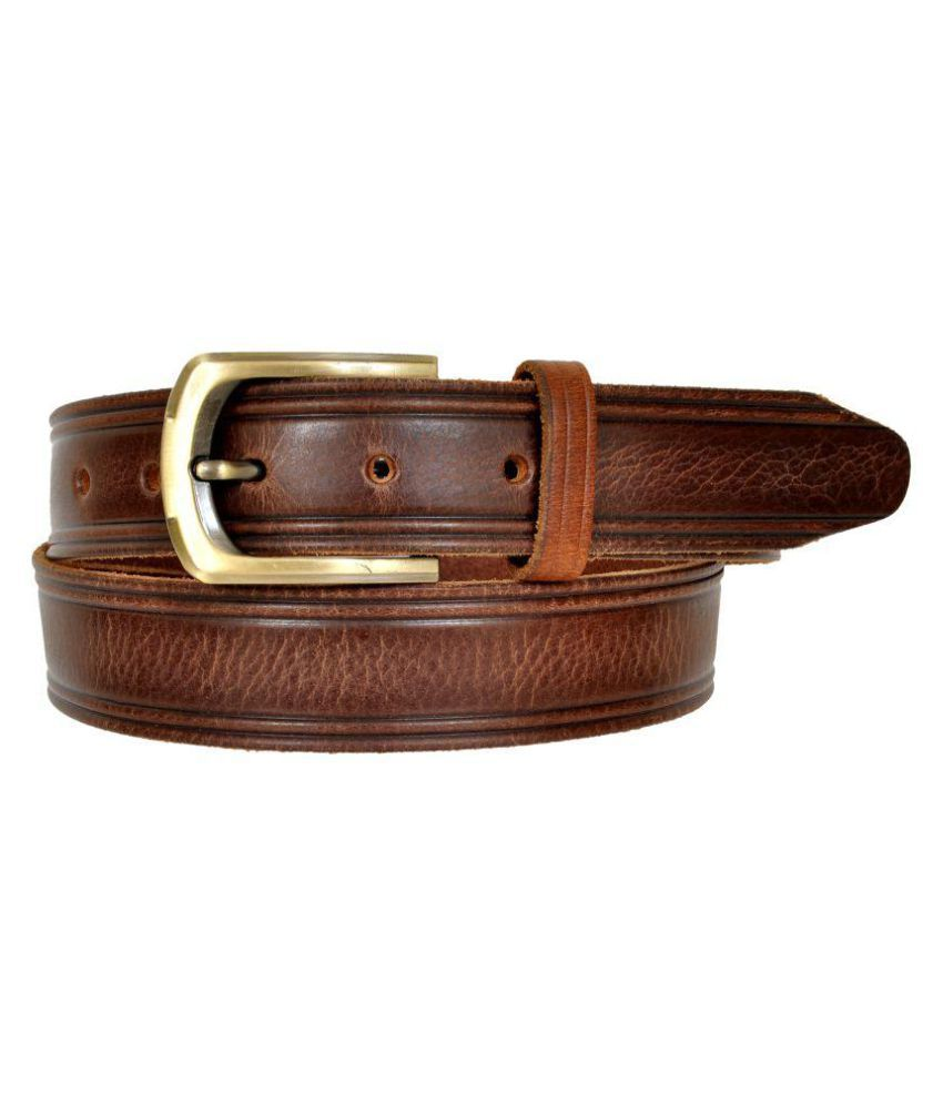 Leather Craft Brown Leather Casual Belts