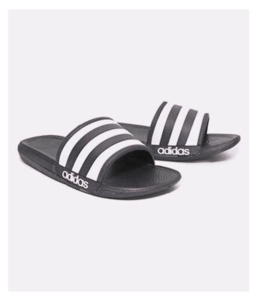 091ee84f862d27 Adidas Adidas slider flip flop slipper Black Slide Flip flop Price in India-  Buy Adidas Adidas slider flip flop slipper Black Slide Flip flop Online at  ...