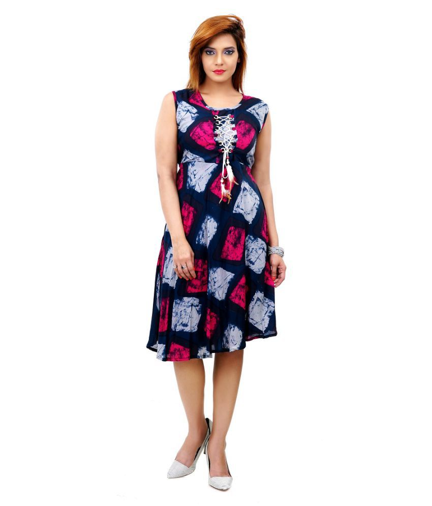 Queenrose Rayon A- line Dress
