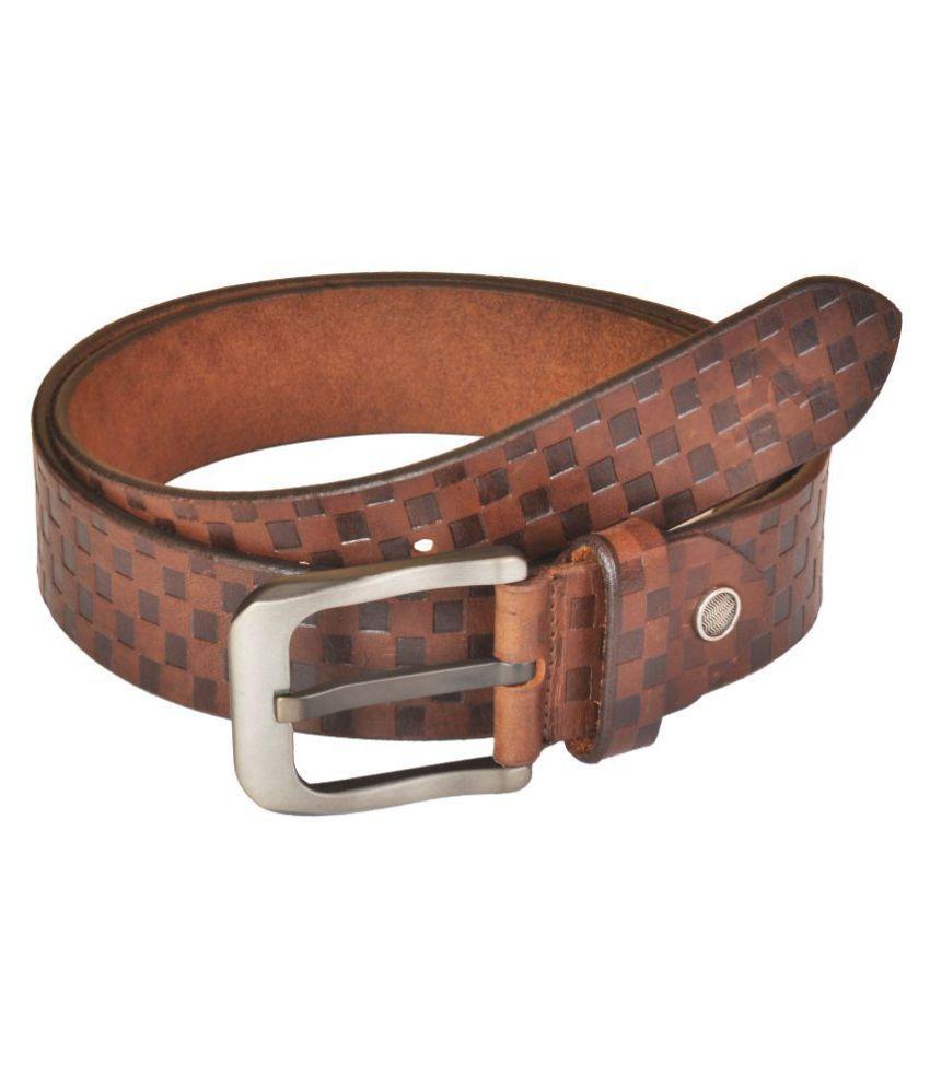 VENER FABICA Brown Leather Casual Belts