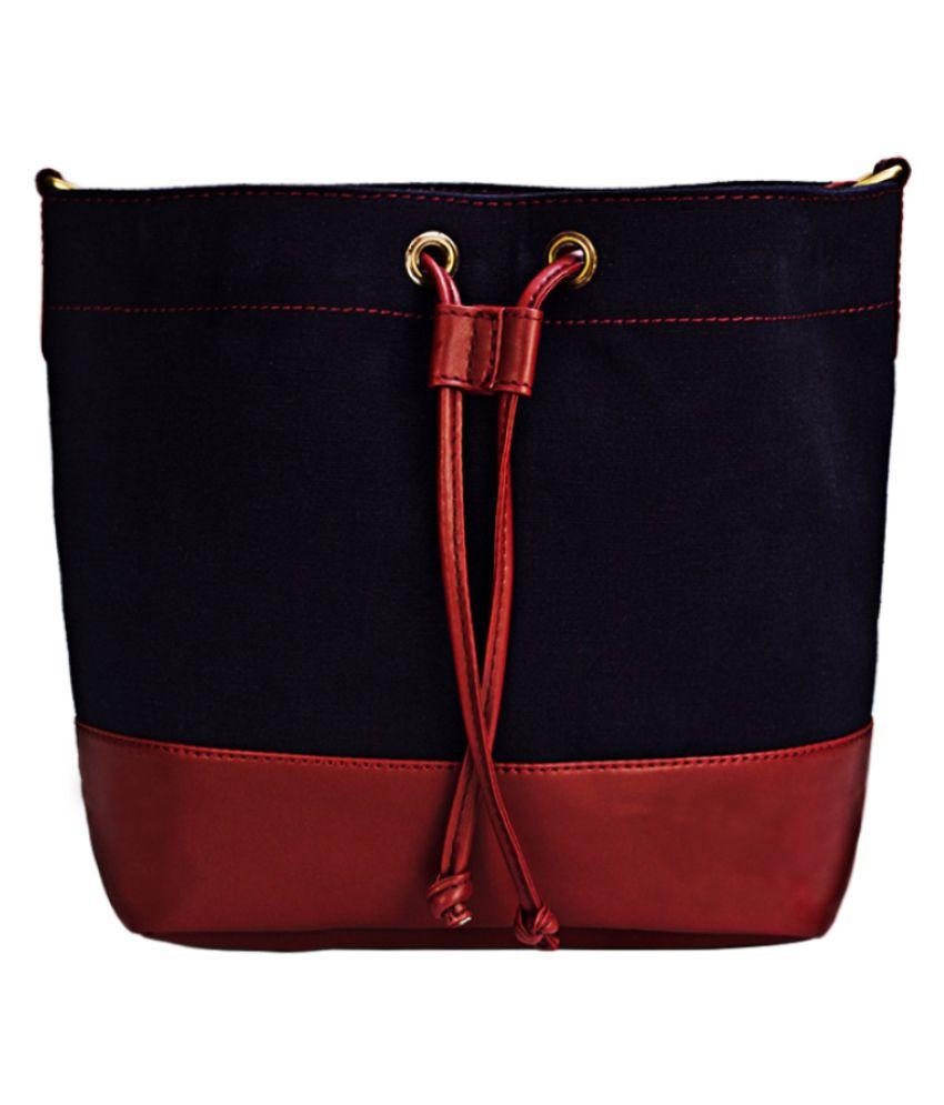 Bagsy Malone Dark Red P.U. Sling Bag