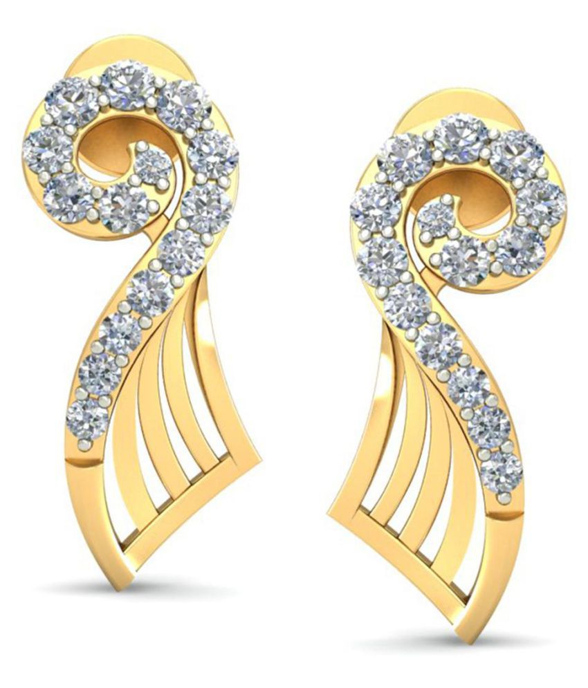 Celenne By Gili 18k BIS Hallmarked Gold Diamond Studs